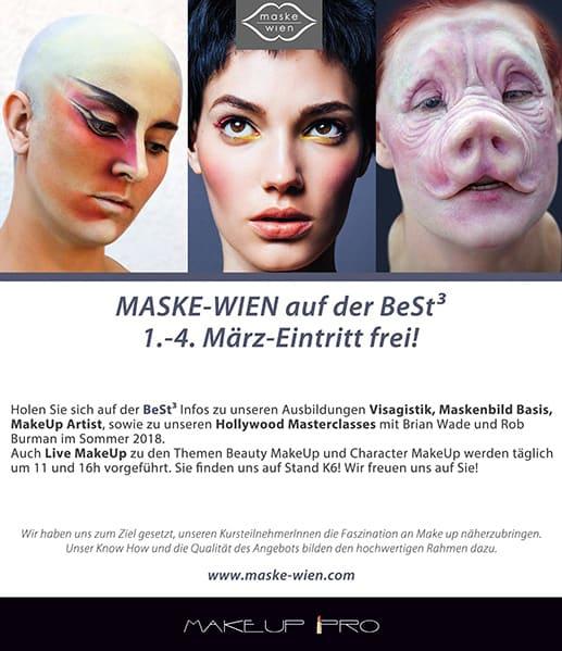 Maske-Wien auf der BeSt. 1. -4. März-Eintritt frei